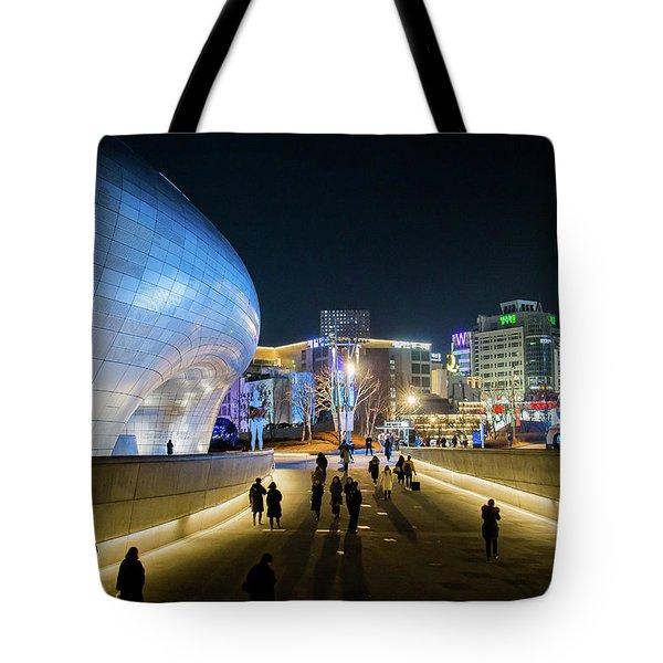 Busy Night Tote Bag by Hyuntae Kim