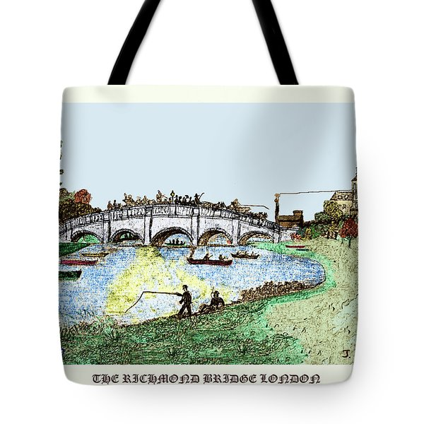 Busy Richmond Bridge Tote Bag