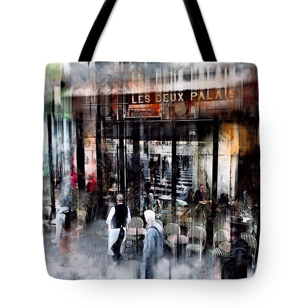 Busy Sidewalk Tote Bag by John Rivera