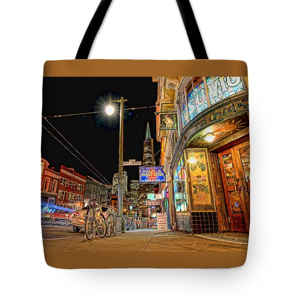 Tote Bag featuring the photograph Busy View Northbeach San Francisco by Steve Siri