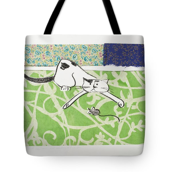 But We Were Just Starting To Have Fun Tote Bag by Leela Payne