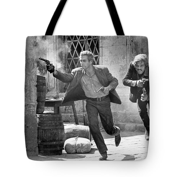 Butch Cassidy And The Sundance Kid - Newman And Redford Tote Bag