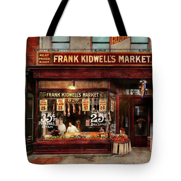 Butcher - Meat Priced Right 1916 Tote Bag by Mike Savad