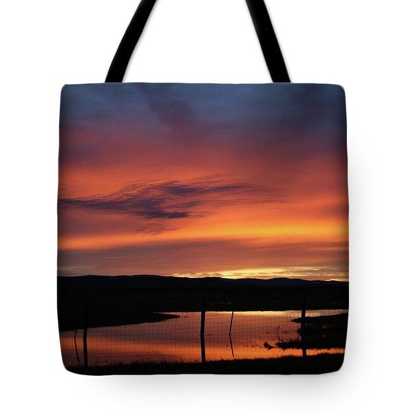 Butte County Sunrise Tote Bag by Suzanne Lorenz