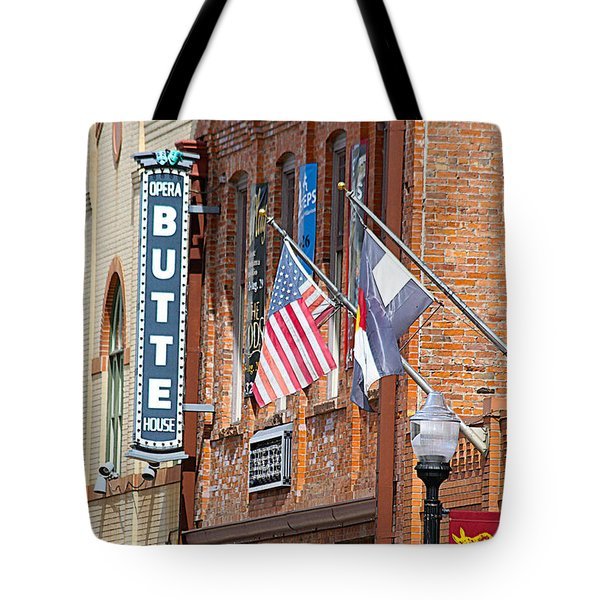 Butte Opera House In Colorado Tote Bag by Catherine Sherman