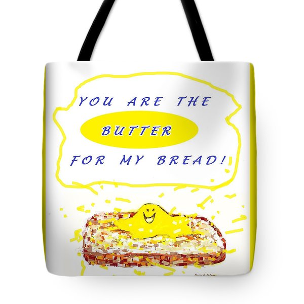 Tote Bag featuring the drawing Butter For My Bread by Denise Fulmer