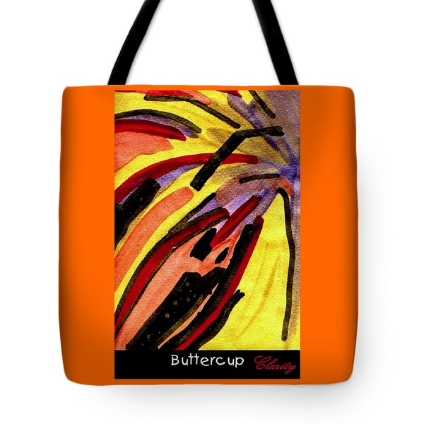 Tote Bag featuring the painting Buttercup by Clarity Artists