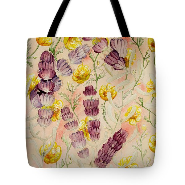 Buttercups And Lavendar Tote Bag