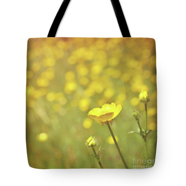 Buttercups Tote Bag by Lyn Randle