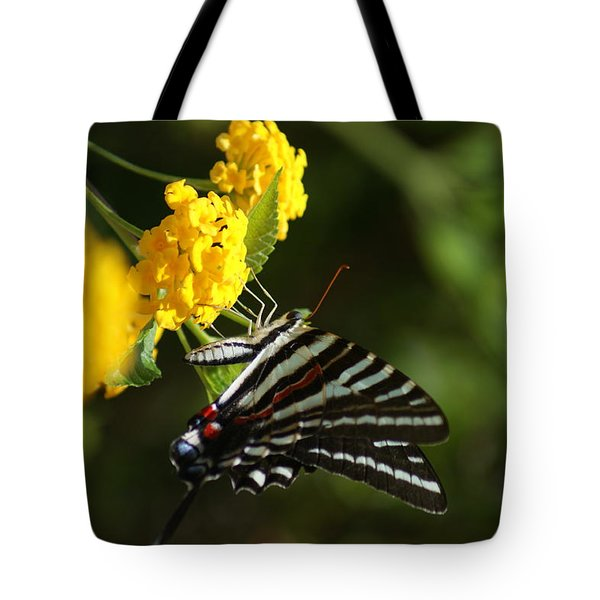 Butterflies And Blooms Tote Bag