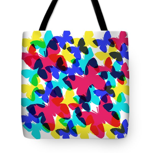 Tote Bag featuring the digital art Butterflies by Bee-Bee Deigner