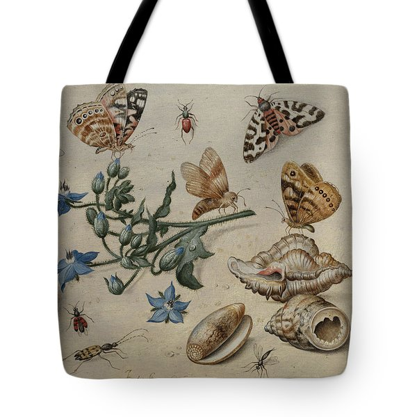 Butterflies, Clams, Insects And Flowers Tote Bag