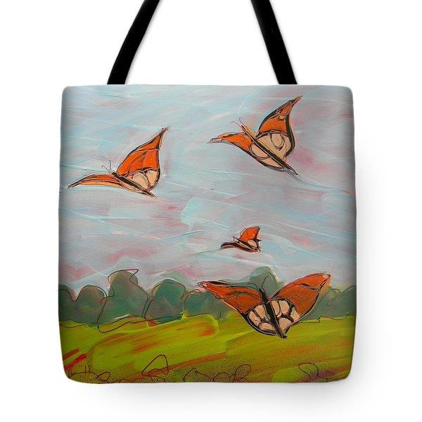 Butterflies Flying 1 Tote Bag