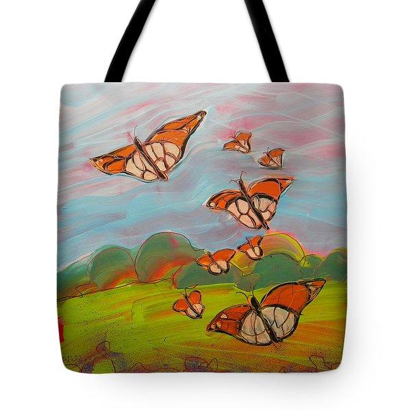 Butterflies Flying 3 Tote Bag