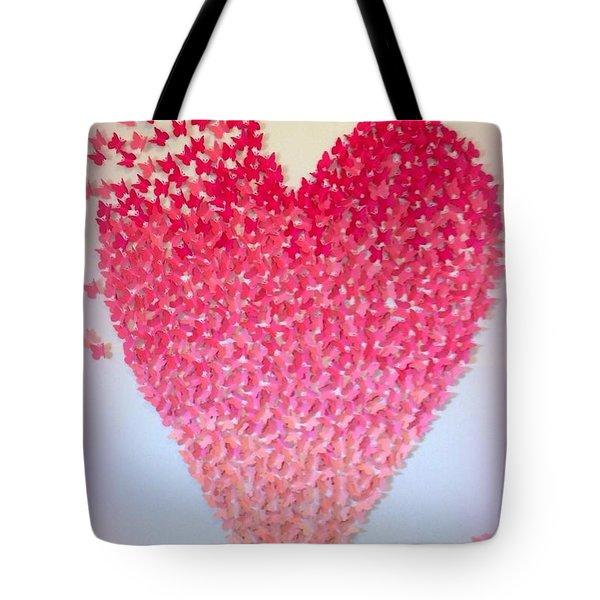 Butterflies Of Love Tote Bag