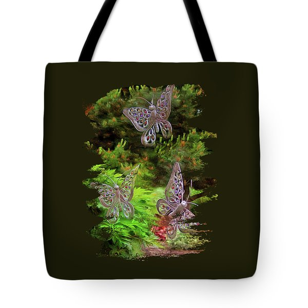 Tote Bag featuring the photograph Butterflies by Thom Zehrfeld