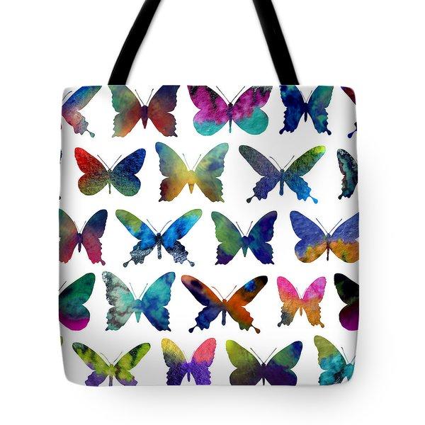 Butterflies Tote Bag by Varpu Kronholm