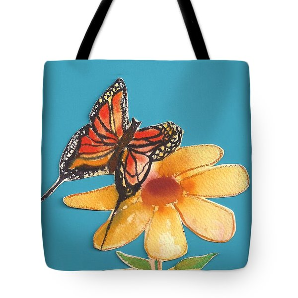 Tote Bag featuring the painting Butterflower by Denise Fulmer