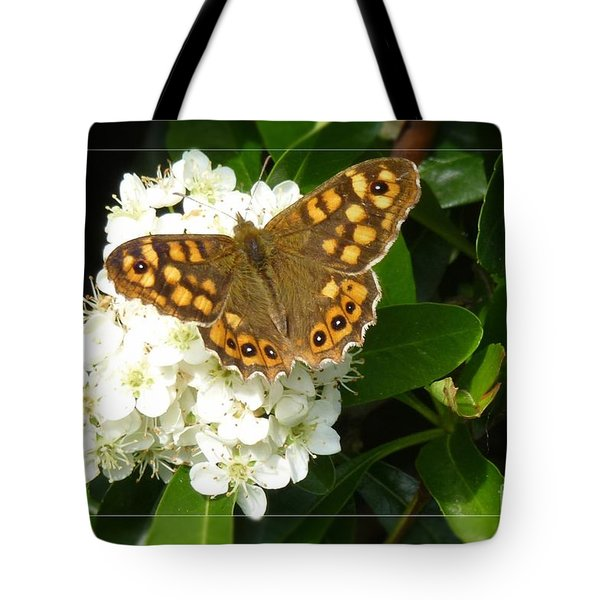 Tote Bag featuring the photograph Butterfly 1 by Jean Bernard Roussilhe