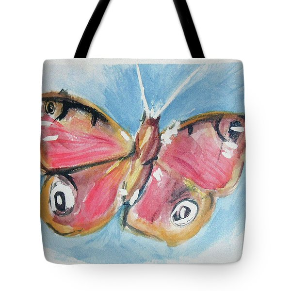 Butterfly 3 Tote Bag by Loretta Nash