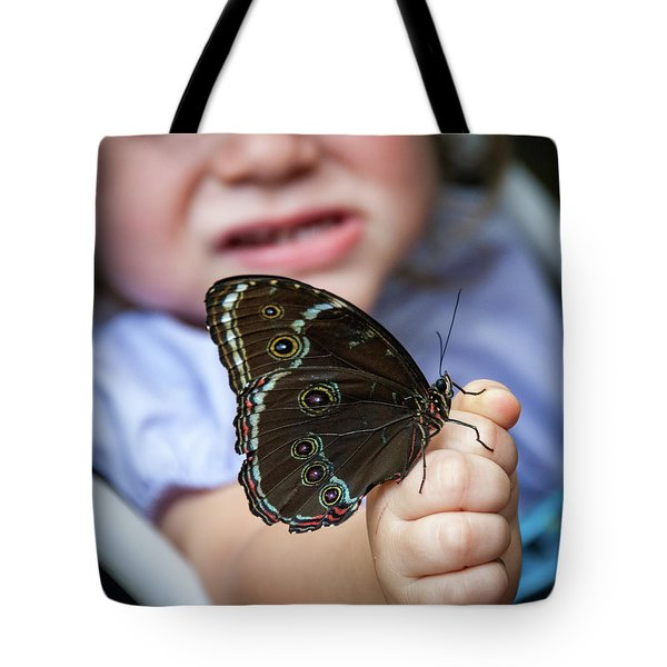 Butterfly A Helping Hand Tote Bag by Ron White