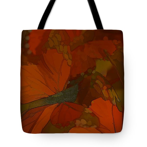 Butterfly Abstract Tote Bag by Deborah Benoit
