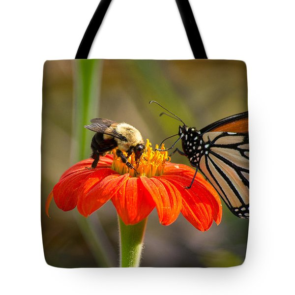 Butterfly And Bumble Bee Tote Bag