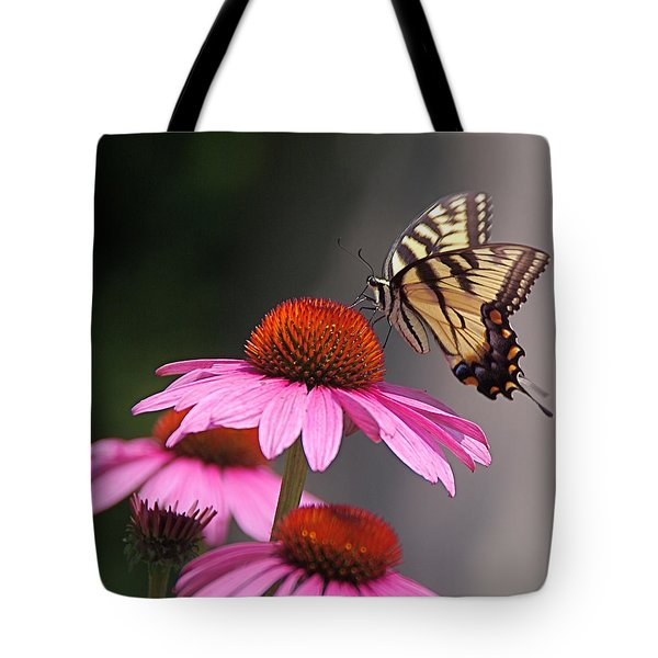 Butterfly And Coneflower Tote Bag