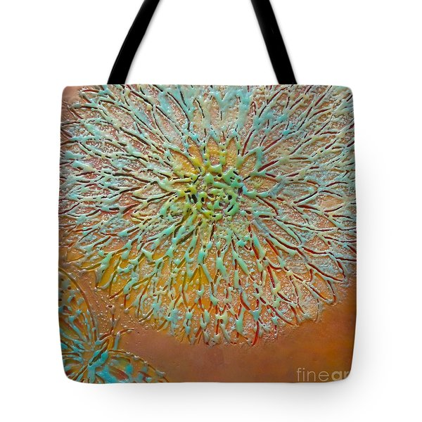 Butterfly And Flower Happy Tote Bag