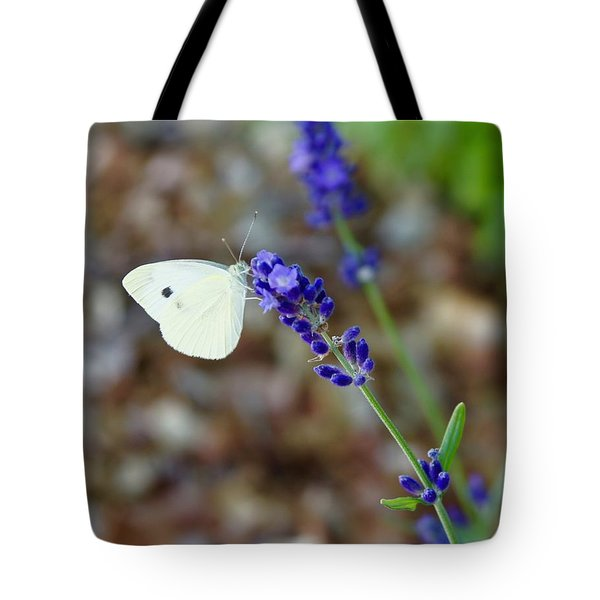 Butterfly And Lavender Tote Bag