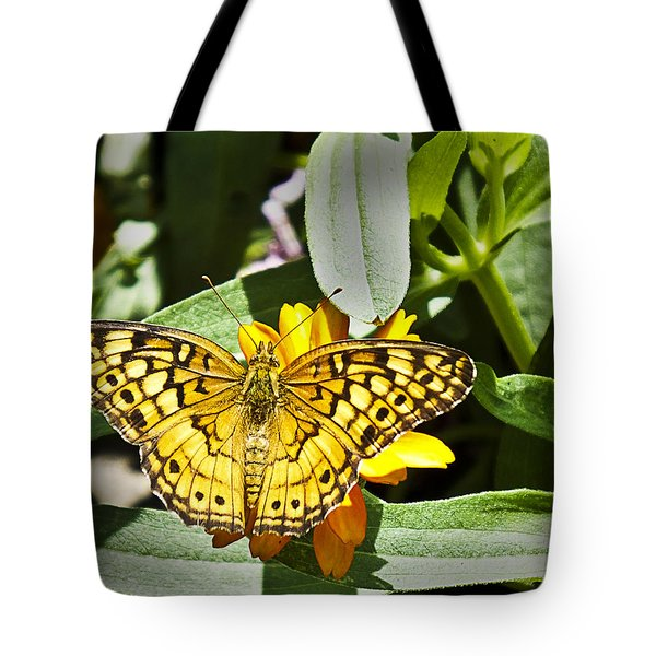 Tote Bag featuring the photograph Butterfly At Rest by Bill Barber