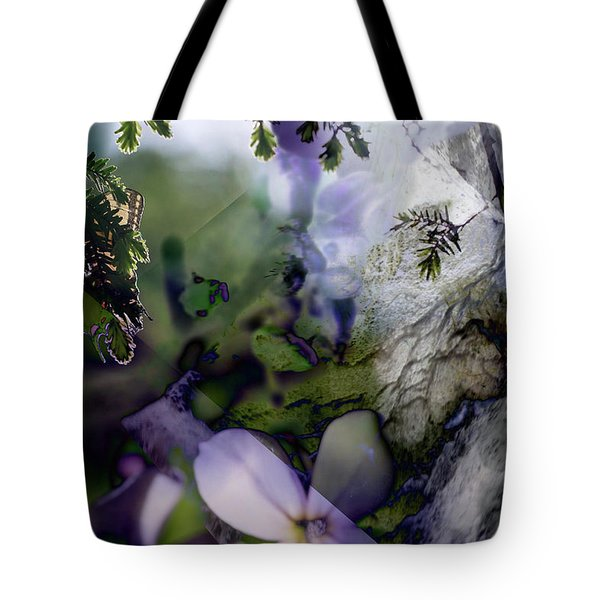 Butterfly Basket Tote Bag