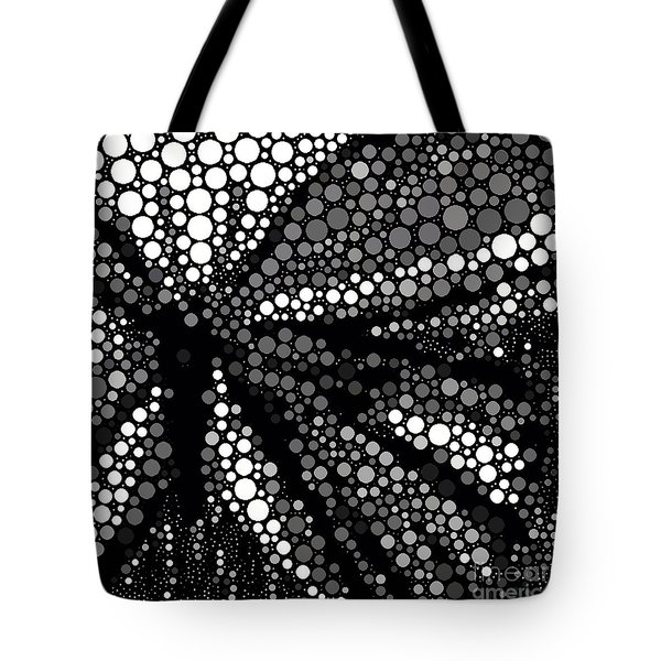 Butterfly Black And White Abstract Tote Bag