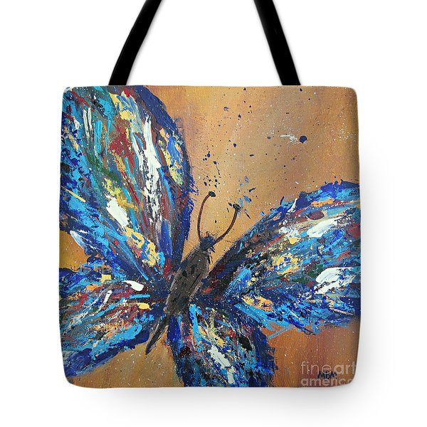 Butterfly Blue Tote Bag