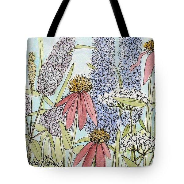 Butterfly Bush In Garden Tote Bag