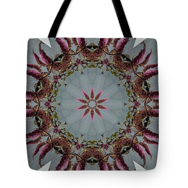 Butterfly Bush Kaleidoscope Tote Bag