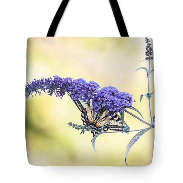 Butterfly Bush Nature Tote Bag by Angie Vogel