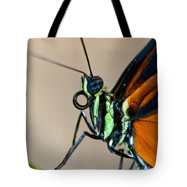 Butterfly Closeup Tote Bag by Christopher Holmes