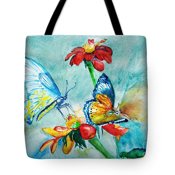 Butterfly Dance Tote Bag by Jasna Dragun