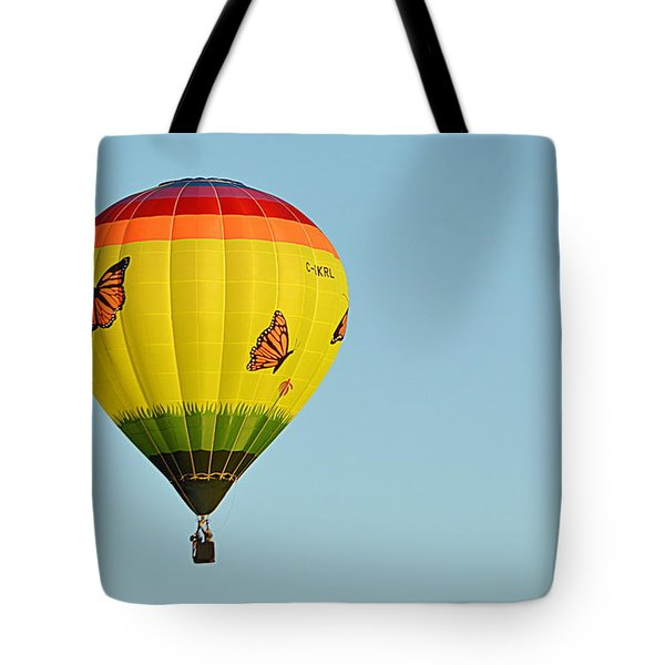 Tote Bag featuring the photograph Butterfly Designs by AJ Schibig