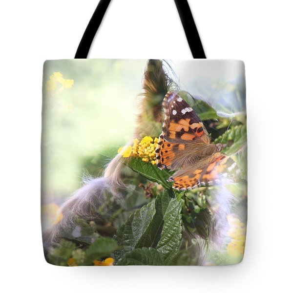 Butterfly Dog Tote Bag