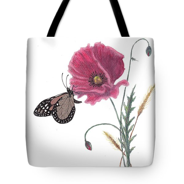 Tote Bag featuring the painting Butterfly Dreaming by Stanza Widen