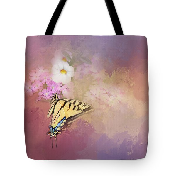 Tote Bag featuring the photograph Butterfly Dreams by Theresa Tahara