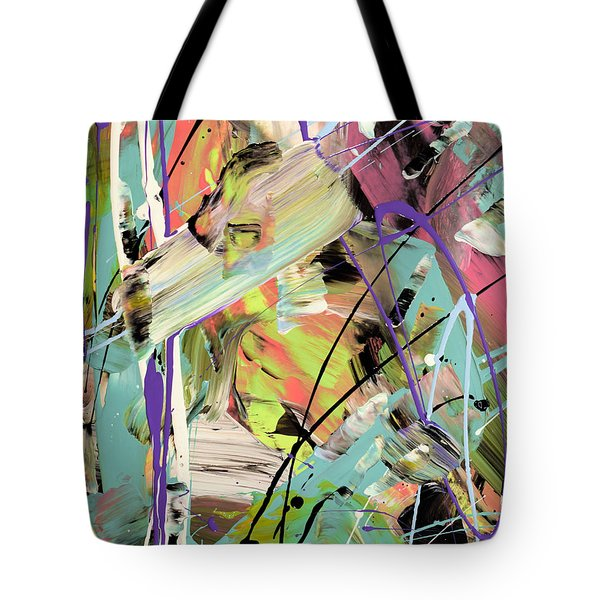 Butterfly Effect Abstract Tote Bag by Erika Pochybova