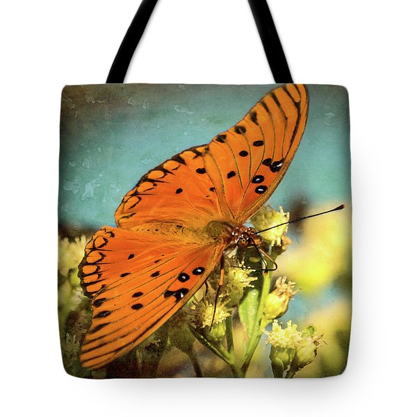 Butterfly Enjoying The Nectar Tote Bag