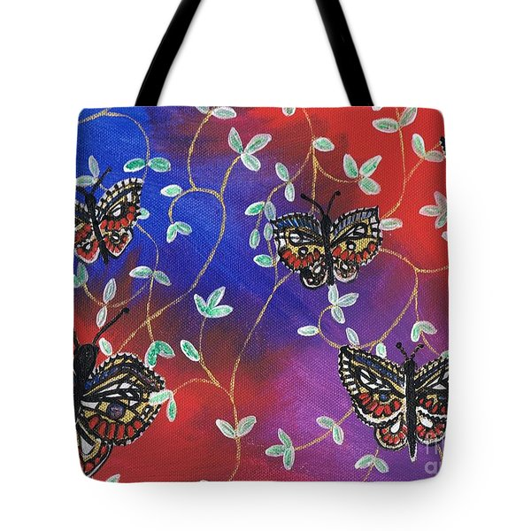 Butterfly Family Tree Tote Bag