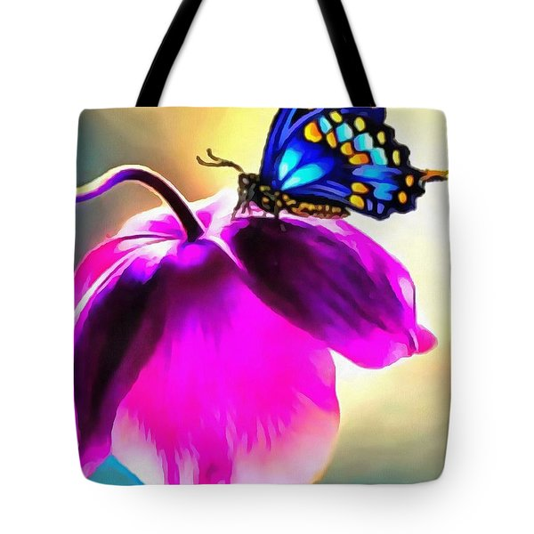 Butterfly Floral Tote Bag