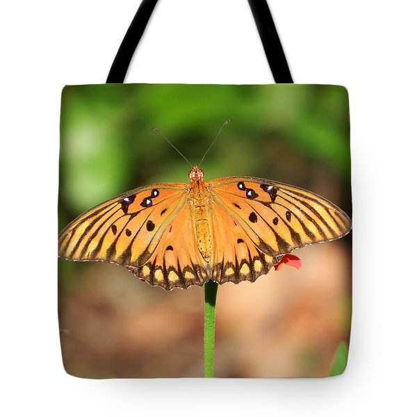 Butterfly Flower Tote Bag by Cathy Harper