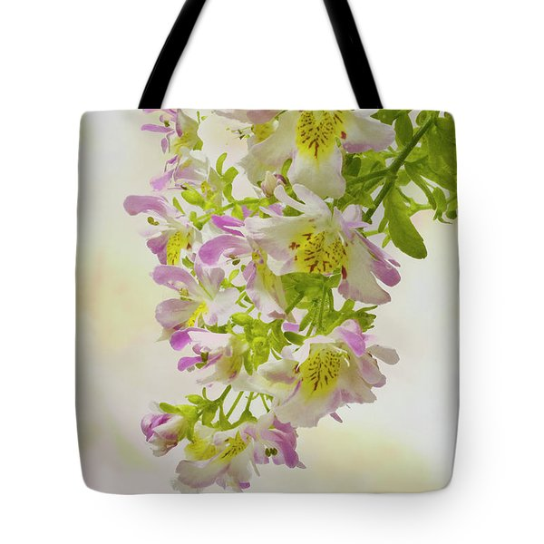 Butterfly Flowers  Tote Bag by Sandra Foster