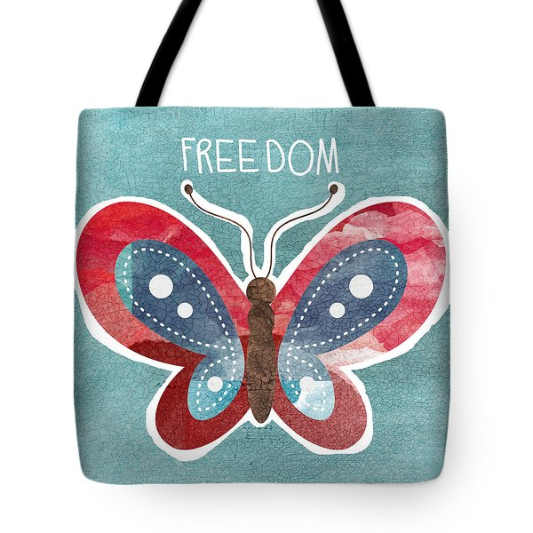 Butterfly Freedom Tote Bag by Linda Woods